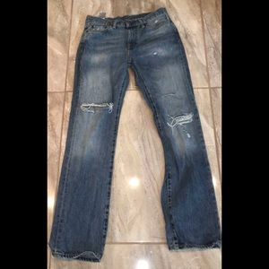 Levi's 514 Levis Jeans MENS 30 X 32 Distressed